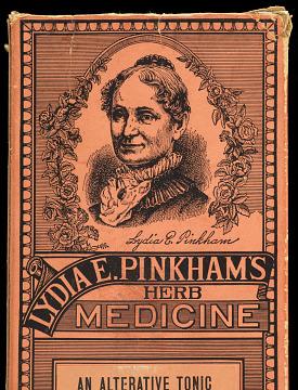 Lydia Pinkham label, about 1900