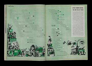"AFL-CIO merger, ""U.S. Labor: Rich and United,"" Life, December 12, 1955"