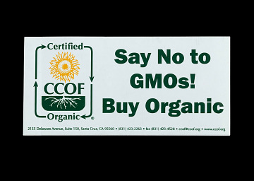 Organic farmers promotional sticker, 2013