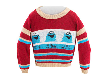 Cookie Monster sweater, 1970–1980s