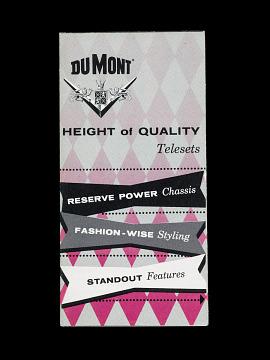 DuMont brochures, 1950s