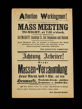 Haymarket broadside, 1886