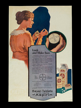 Aspirin advertisement, about 1915
