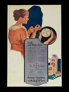 Aspirin advertisement, about 1915