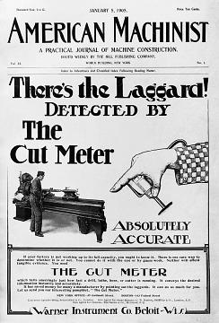 Speed indicator advertisement, 1905