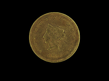 Moffatt & Company $20 gold coin, 1855