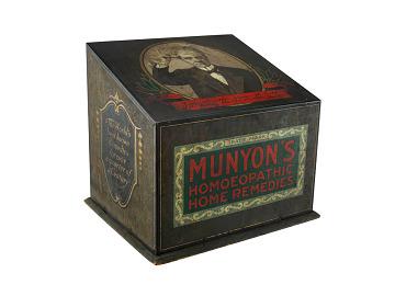 Munyon's display box, about 1893
