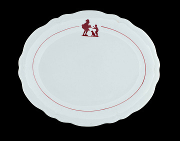 Howard Johnson's children's plate, 1950s–1960s