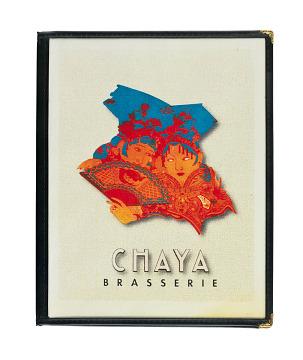 Chaya Brasserie menu, about 1998