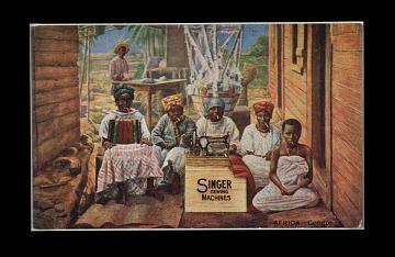 Singer advertising card, 1914