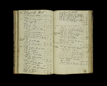 Stauffer's account book, 1810–1832