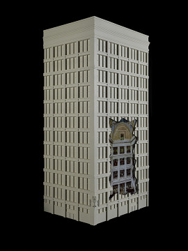 Model of Marshall Field department store, Chicago, Illinois, about 1910