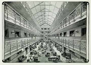 Rendering of Mecca Flats atrium, 1893