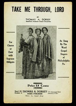 Reproduction of gospel sheet music, 1952