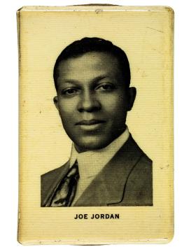 Joe Jordan on a music club match book, 1912