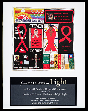 Interfaith service booklet to celebrate 25th anniversary of Names Project AIDS Memorial Quilt, 2012