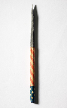 Flag-wrapped slate pencils, 1875–1915
