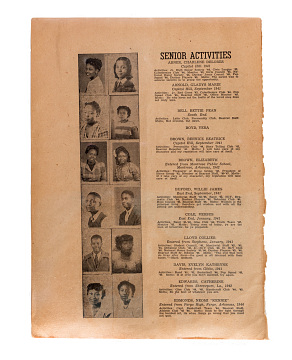 Yearbook from segregated school, Little Rock, Arkansas, 1947