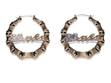 Nameplate Earrings, 2018