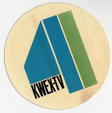 KWEX logo, about 1960