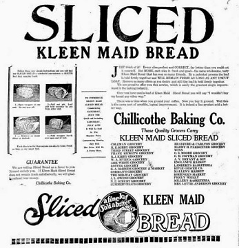 Sliced Kleen Maid Bread advertisement