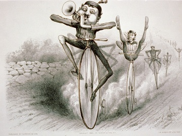 Graces of the Bicycle, 1880