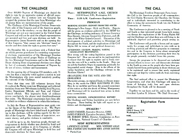 Mississippi Freedom Democratic Party brochure, National Museum of American History Political History Collection