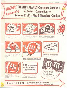 M&Ms advertisement, 1954