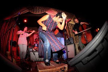 Martha Gonzalez of the band Quetzal, around 2010