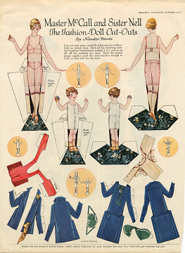 Master McCall and Sister Nell The Fashion Doll Cut Outs, about 1923