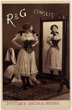 Woman in Corset, around 1880