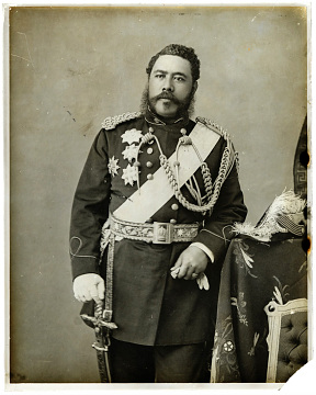 King David Kalakaua, around 1875