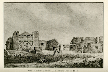 "Reproduction of drawing, ""Ruins of Pecos Catho. Church,"" by John Mix Stanley, 1846"