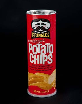 Pringles can, late 1960s