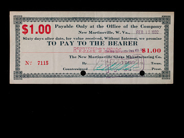 Emergency money, 1930s