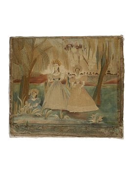 Moses in the Bulrush Silk Embroidery, 1825–1835