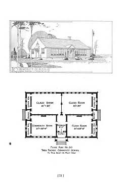 Community School Plans issued by the Julius Rosenwald Fund, Nashville, Tennessee, 1931