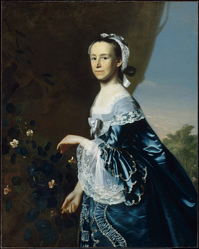 Mercy Otis Warren, a fierce patriot but also a consumer of imported finery, 1763
