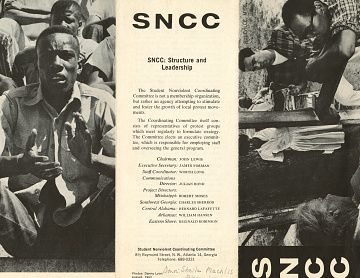 Student Nonviolent Coordinating Committee Brochure, National Museum of American History Political History Collection