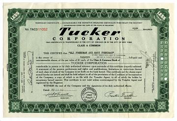 Stock certificate, 1947