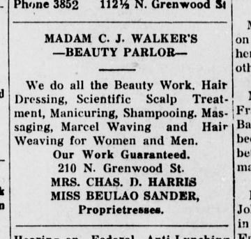 Black business advertisement, Tulsa Star, 1920