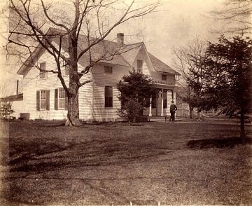 Peter Dougherty's mission house on Little Traverse Bay, Michigan, early 1900s