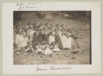 Group of women and children revolutionaries, also known as