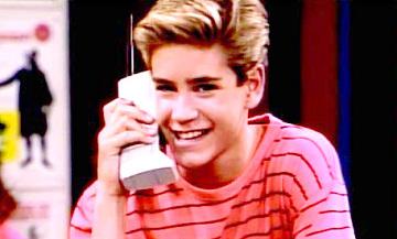 Sitcom character Zack Morris, 1989