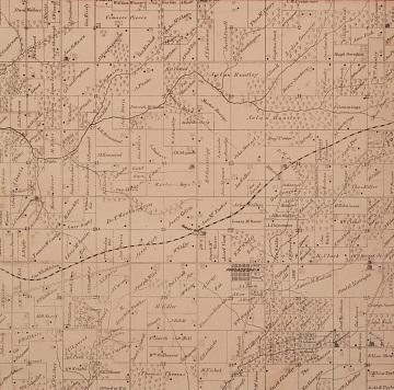 Map showing New Philadelphia, Atlas Map of Pike County, Illinois, Davenport, 1872