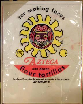 Flour tortilla packaging, 1970