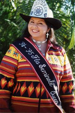 Unidentified girl, Seminole Rodeo Queen, 1994–1995