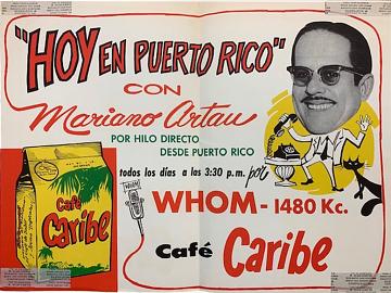 Café Caribe advertisement, 1960s