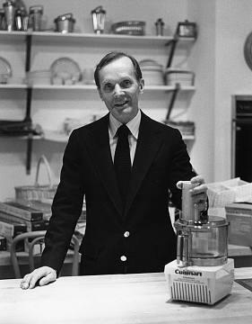 Chuck Williams in his San Francisco store, around 1977