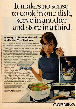 Advertisement for CorningWare, 1968